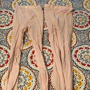 Capezio pink dance tights